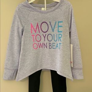 NWT 2 piece set girl's athletic outfit